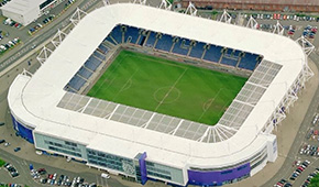 King Power Stadium vu du ciel