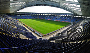 King Power Stadium vu des tribunes